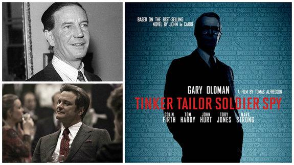 Ким Филби, его экранное воплощение Колин Фёрт, постер фильма «Шпион, выйди вон!»