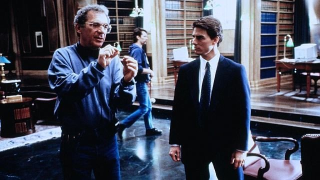 Сидни Поллак иТом Круз насъемках фильма «Фирма»