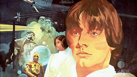 Фрагмент постера к фильму «Звездные войны: Эпизод 4 — Новая надежда»