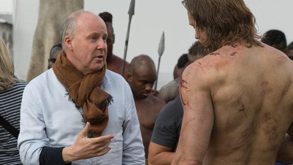 Александр Скарсгард и Дэвид Йейтс на съемках фильма «Тарзан. Легенда»