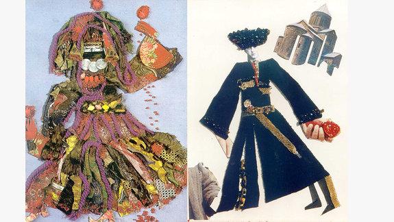 Эскизы к фильму «Демон»: «Гадалка» (слева) и «Человек вчерной бурке» (справа) / Фото: Завен Саркисян