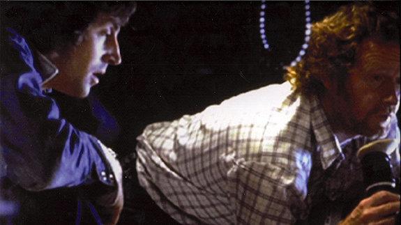 Роджер Кристиан и  Ридли Скотт на съемках фильма «Чужой»