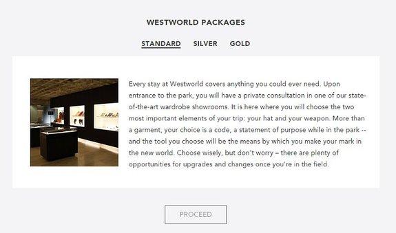 Описание стандартного пакета насайте парка «Мир Дикого Запада»