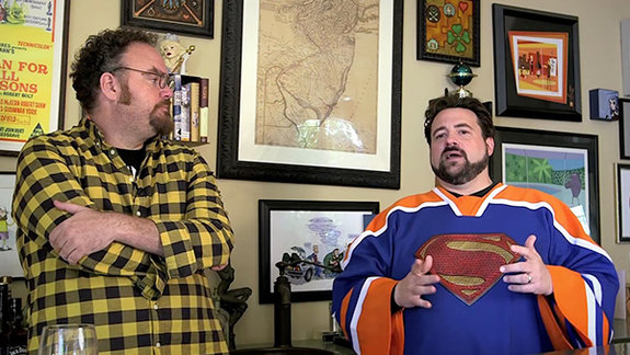 """Джон Шнепп и Кевин Смит: Кадр из фильма «Смерть """"Супермен жив"""": Что случилось?»"""