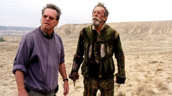 Терри Гиллиам и Жан Рошфор. На съемках «Человека, который убил Дон Кихота»