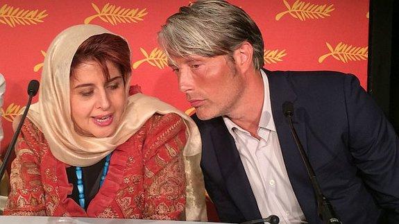 Катаюн Шахаби и Мадс Миккельсен на первой пресс-конференции жюри