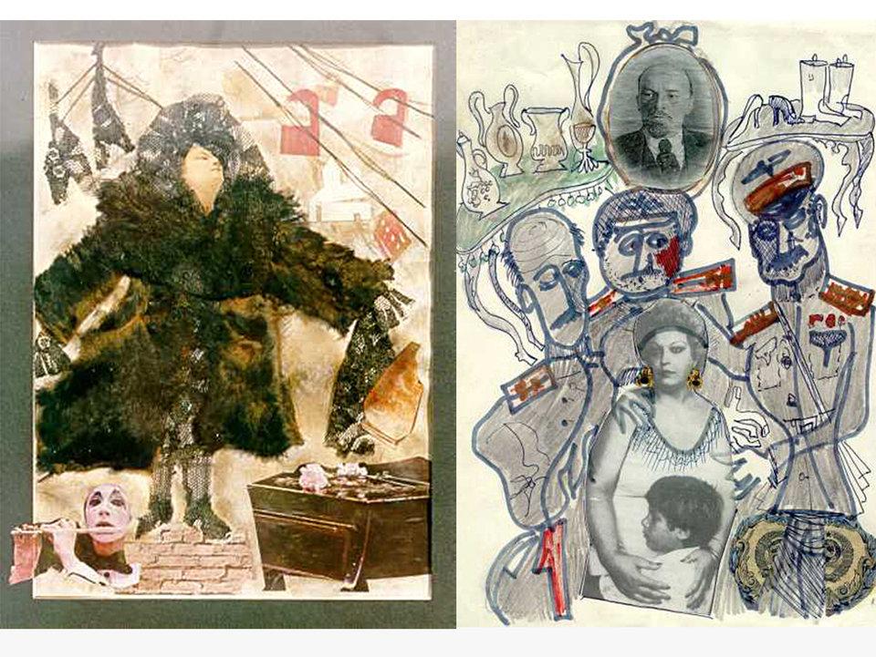 Картины Параджанова «Мать в шубе» и «Обыск» / Фото: Завен Саркисян