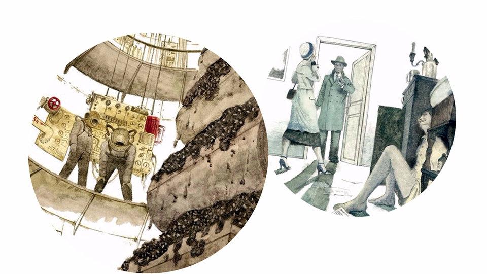 Иллюстрации из книги «Гиперболоид инженера Гарина»