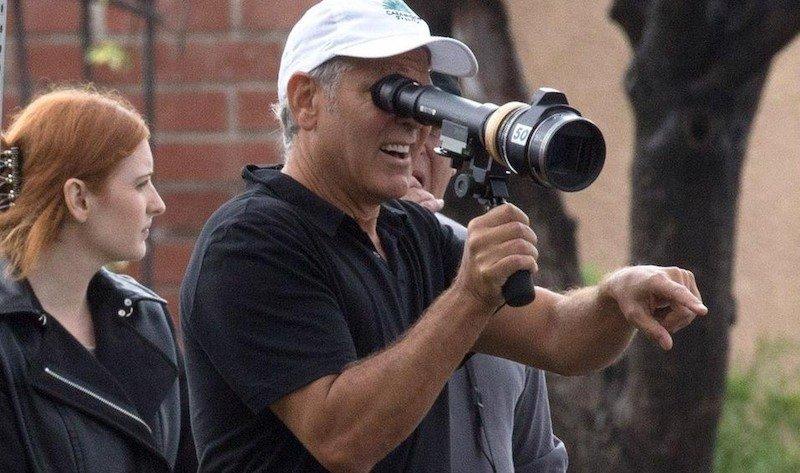 Джордж Клуни на съемках «Субурбикона»