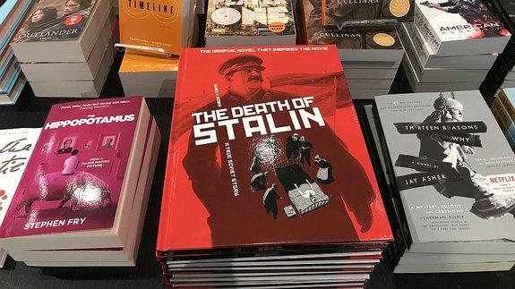 Графический роман «Смерть Сталина» вкнижном магазине Торонто/ Фото: КиноПоиск