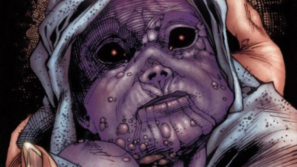 Новорожденный крошка Танос вкомиксе «Танос: Начало»/ Иллюстрация: Marvel Comics