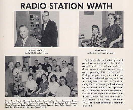 Фрагмент из школьного альбома с учениками, работавшими на радио