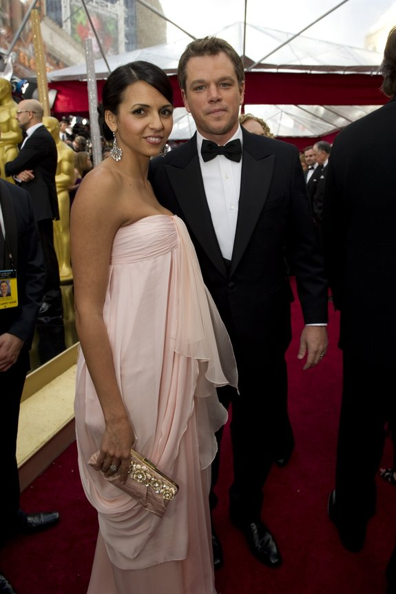 Мэтт Дэймон с супругой
