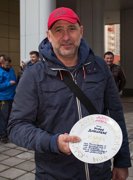 Сергей Пускепалис в первый съемочный день «Клинча»