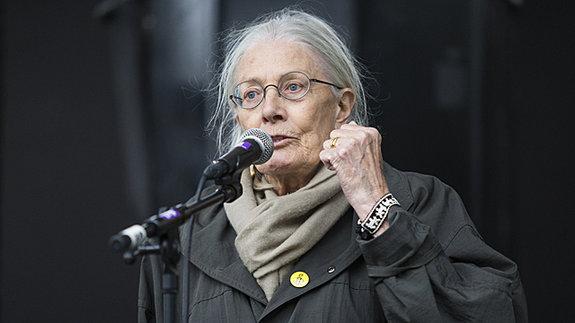 Ванесса Редгрейв на митинге в поддержку беженцев