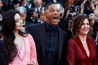 Фань Бинбин, Уилл Смит и Аньес Жауи/ Фото: Getty Images