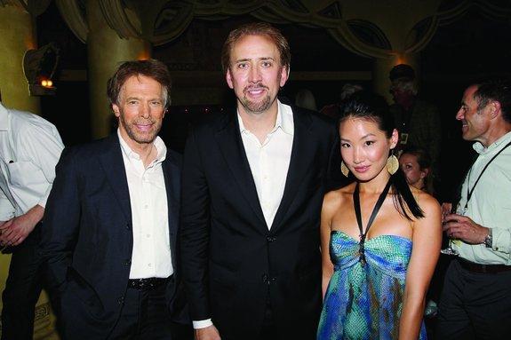 Джерри Брукхаймер и Николас Кейдж с супругой