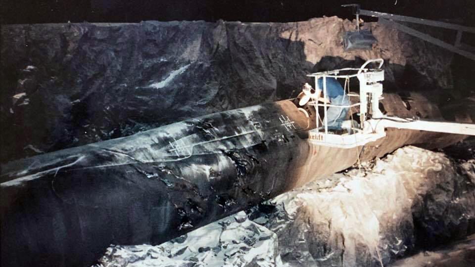 Модель затонувшей подлодки «Монтана» из фильма «Бездна»