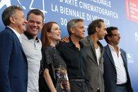 Джулианна Мур, Джордж Клуни и Мэтт Дэймон / Фото: Надежда Вознесенская для КиноПоиска
