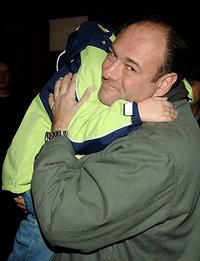 Джеймс Гандольфини с сыном