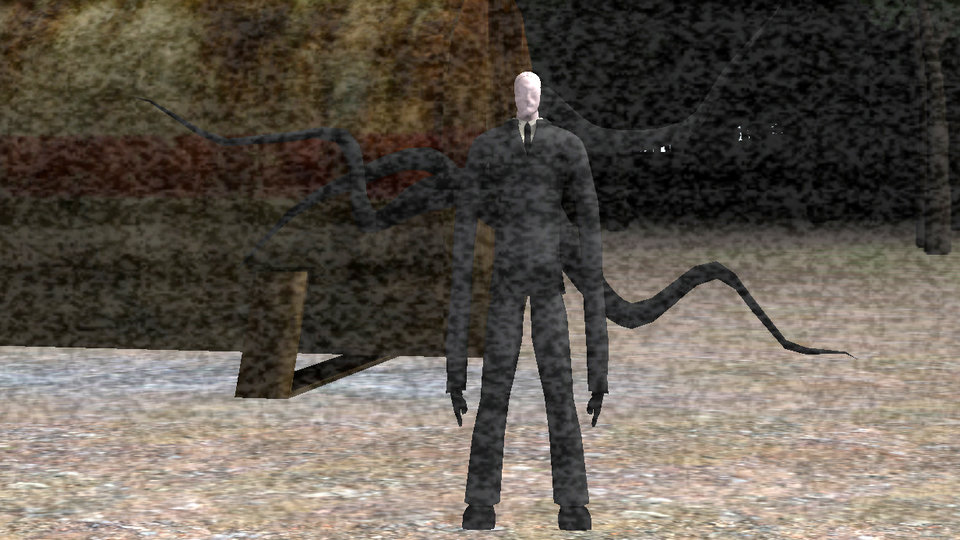 Фрагмент игры «Slender: The Eight pages»