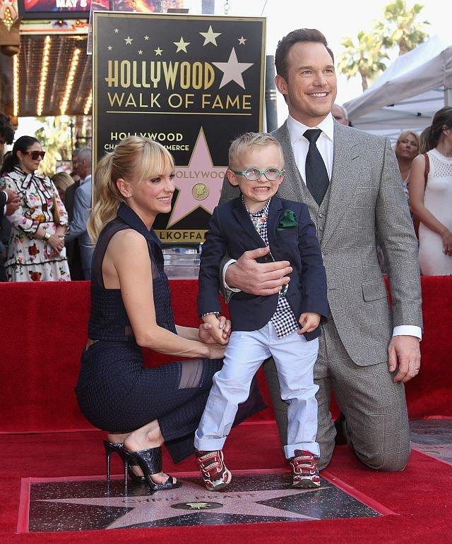 Крис Пратт с женой Анной Фэрис и сыном Джеком / Фото: Getty Images