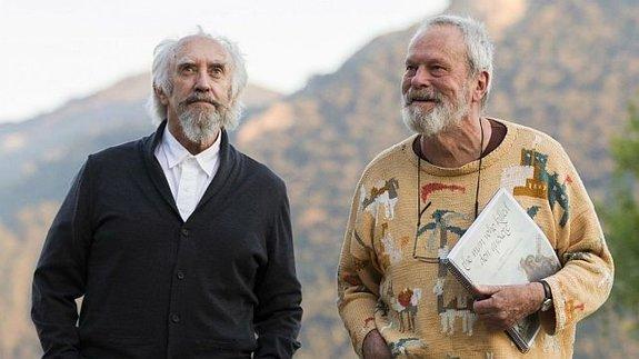 Джонатан Прайс и Терри Гиллиам на съемках