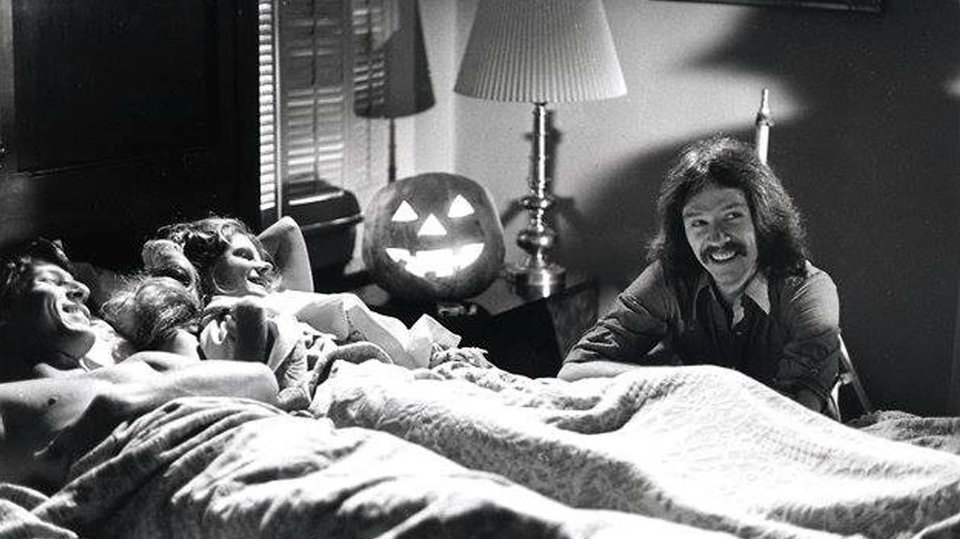 На съемках фильма «Хэллоуин», 1978