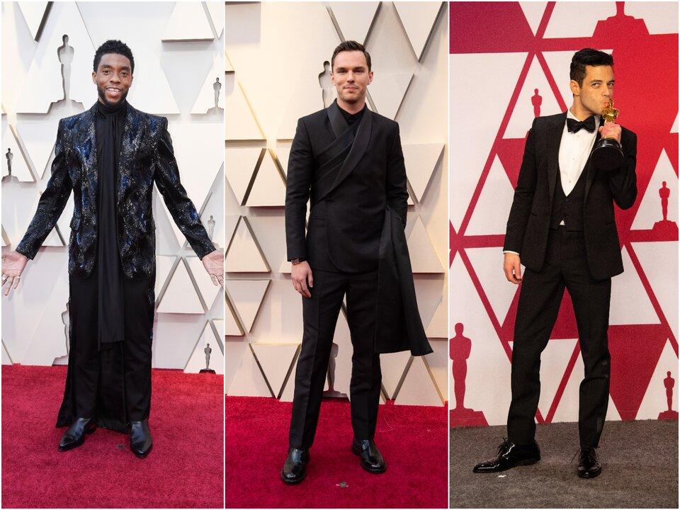 Чедвик Боузман, Николас Холт и  Рами Малек на «Оскаре-2019» / Фото: Getty Images, ©A.M.P.A.S.