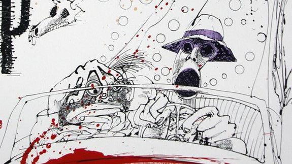 Ральф Стэдмен, иллюстрация к изданию «Страха и ненависти в Лас-Вегасе»