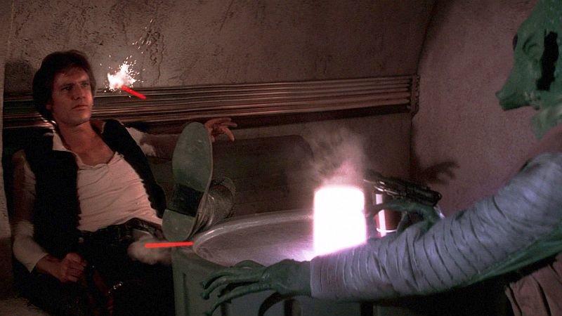 Хан стреляет первым вфильме «Звёздные войны: Эпизод 4— Новая надежда»
