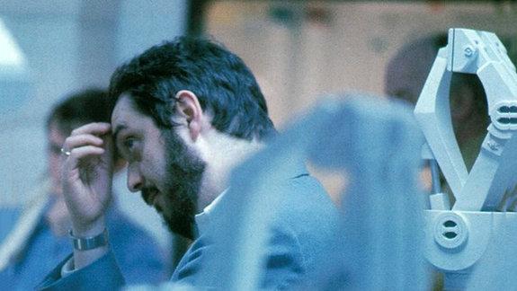 Стэнли Кубрик  на съемках фильма «2001 год: Космическая одиссея»