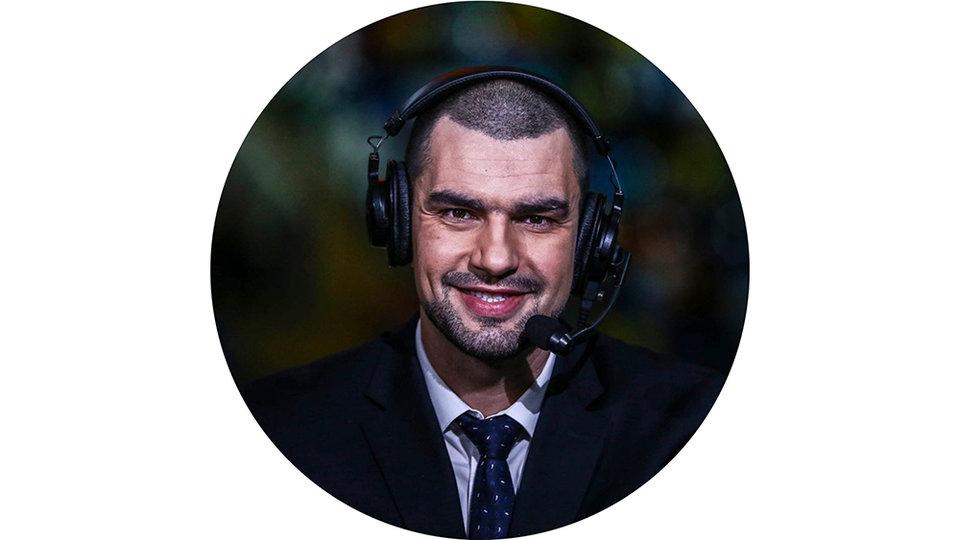 Дмитрий Матеранский, баскетбольный комментатор телеканала «Матч ТВ»