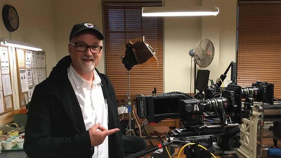 Дэвид Финчер на съемках сериала