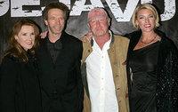 Джерри Брукхаймер с женой, Тони Скотт с женой