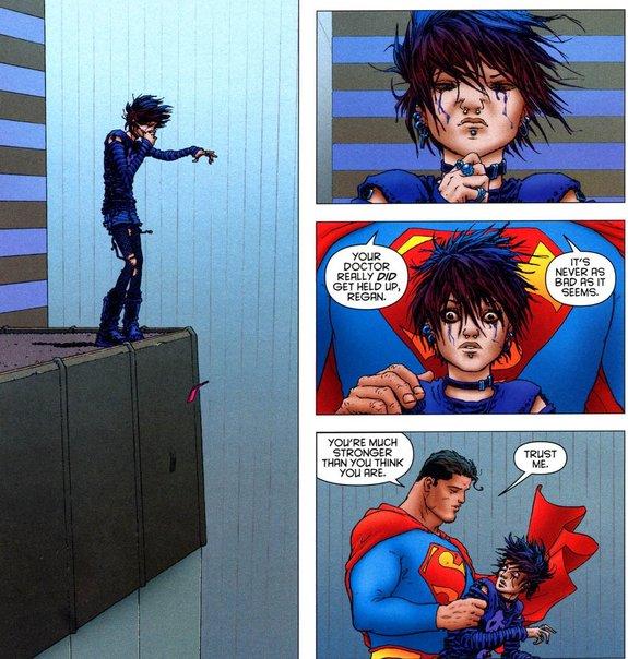 В комиксе Гранта Моррисона «All-Star Superman» герой находит время, чтобы спасти девочку. Этот эпизод приводили в пример Заку Снайдеру / Иллюстрация: DC