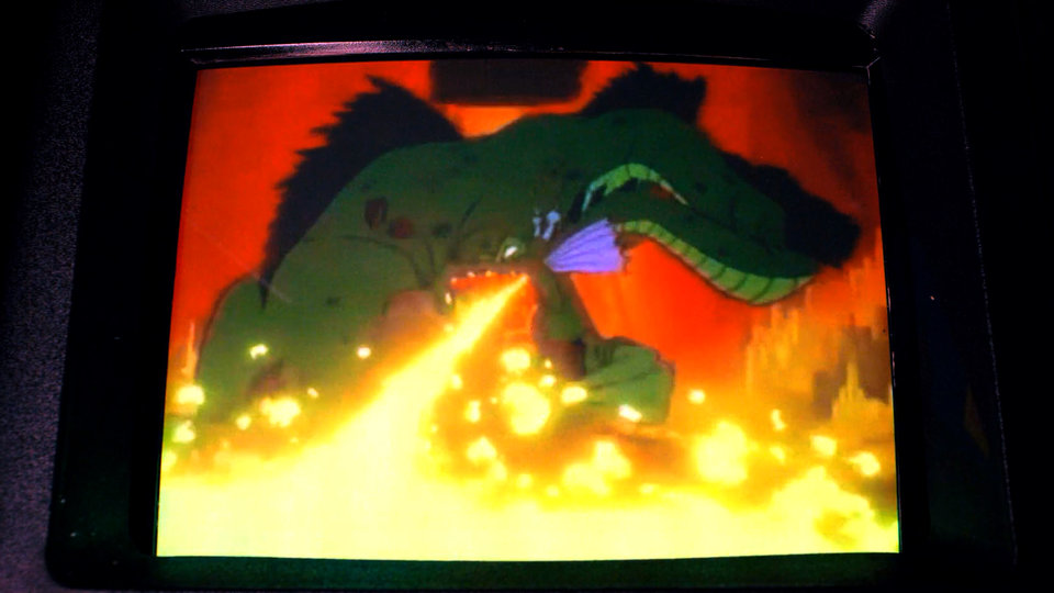 Кадр из игры «Логово дракона» из сериала «Очень странные дела» (второй сезон)
