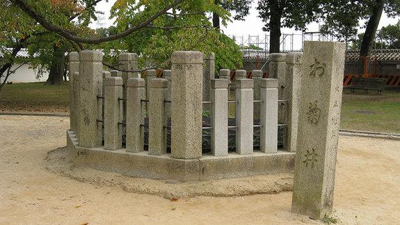 Колодец в замке Химэдзи на западе Японии