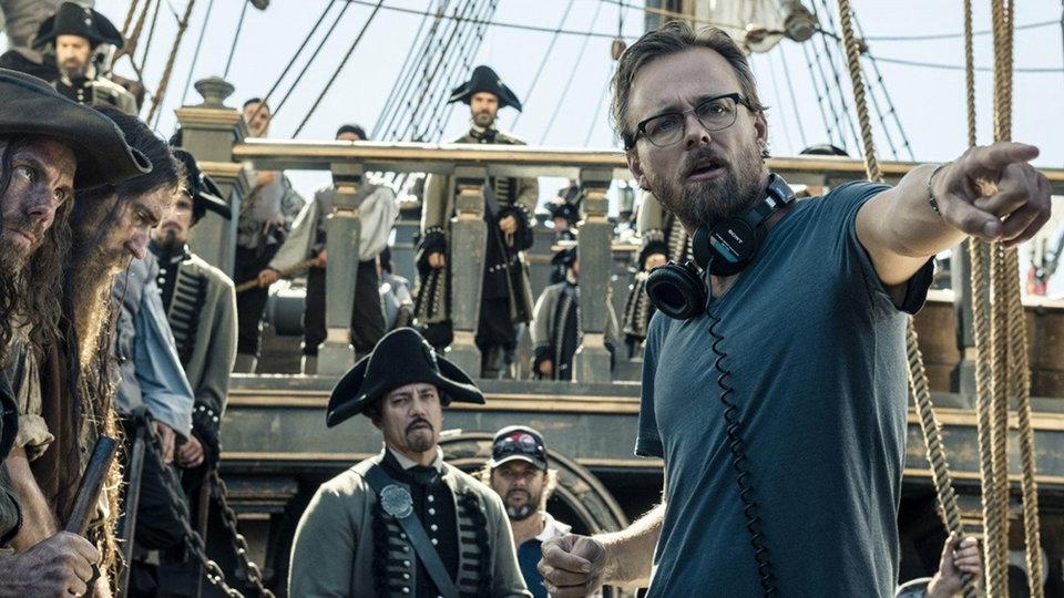 Хоаким Роннинг на съемках «Пираты Карибского моря: Мертвецы не рассказывают сказки»
