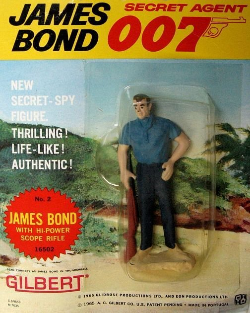 Фигурка агента 007 1965 года