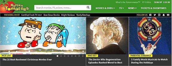 Скриншот сайта Rotten Tomatoes