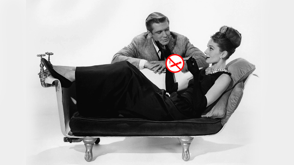 Чувак курит сигарету