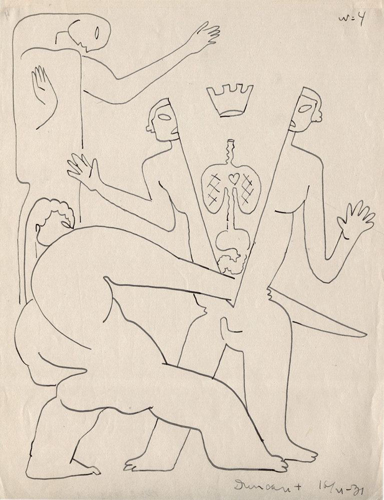 Рисунок Сергея Эйзенштейна из цикла «Убийство короля Дункана» (1931) / РГАЛИ