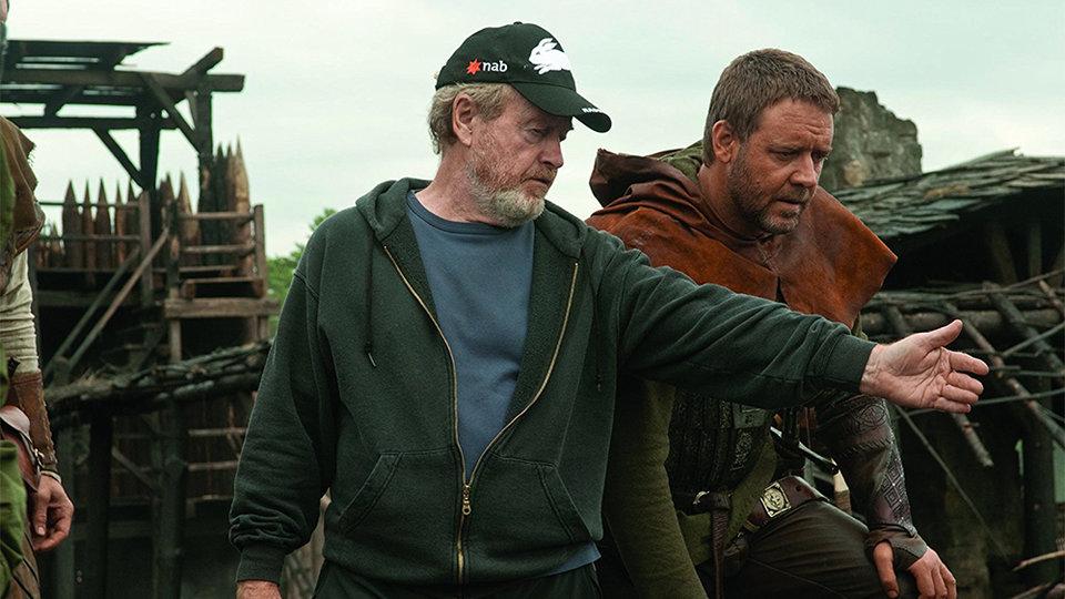 Ридли Скотт и Рассел Кроу на съемках фильма «Робин Гуд» / Фото: David Appleby