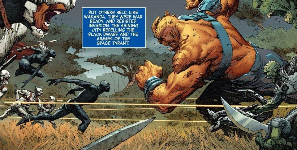 Черный Карлик нападает на Ваканду / Иллюстрация: Marvel Comics