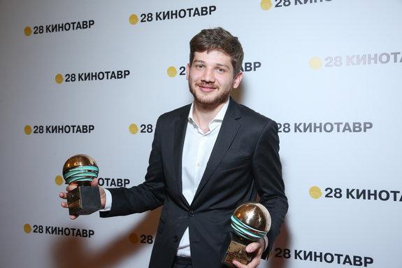 Победитель в номинации «Лучший дебют» за фильм «Теснота» режиссер Кантемир Балагов / Пресс-служба фестиваля «Кинотавр»