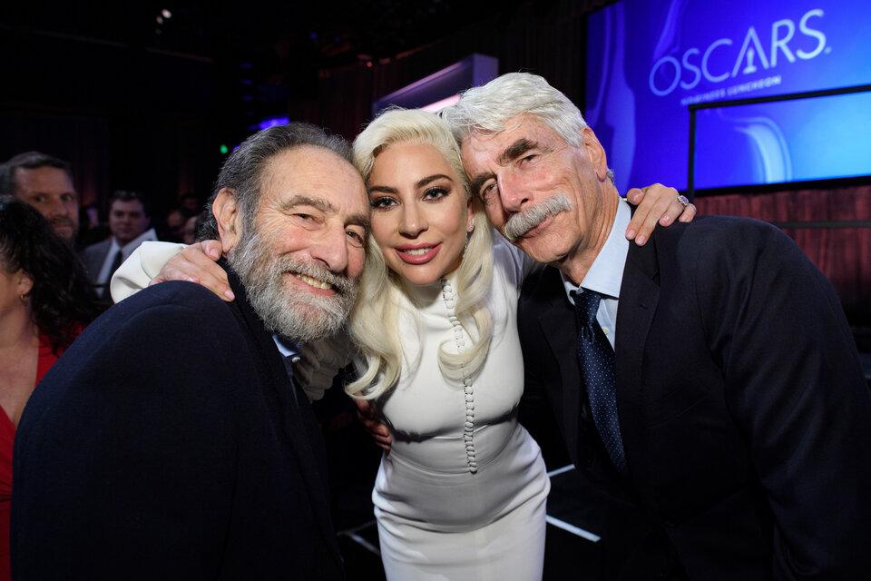 Эрик Рот, Леди Гага и Сэм Эллиот / Фото: A.M.P.A.S.
