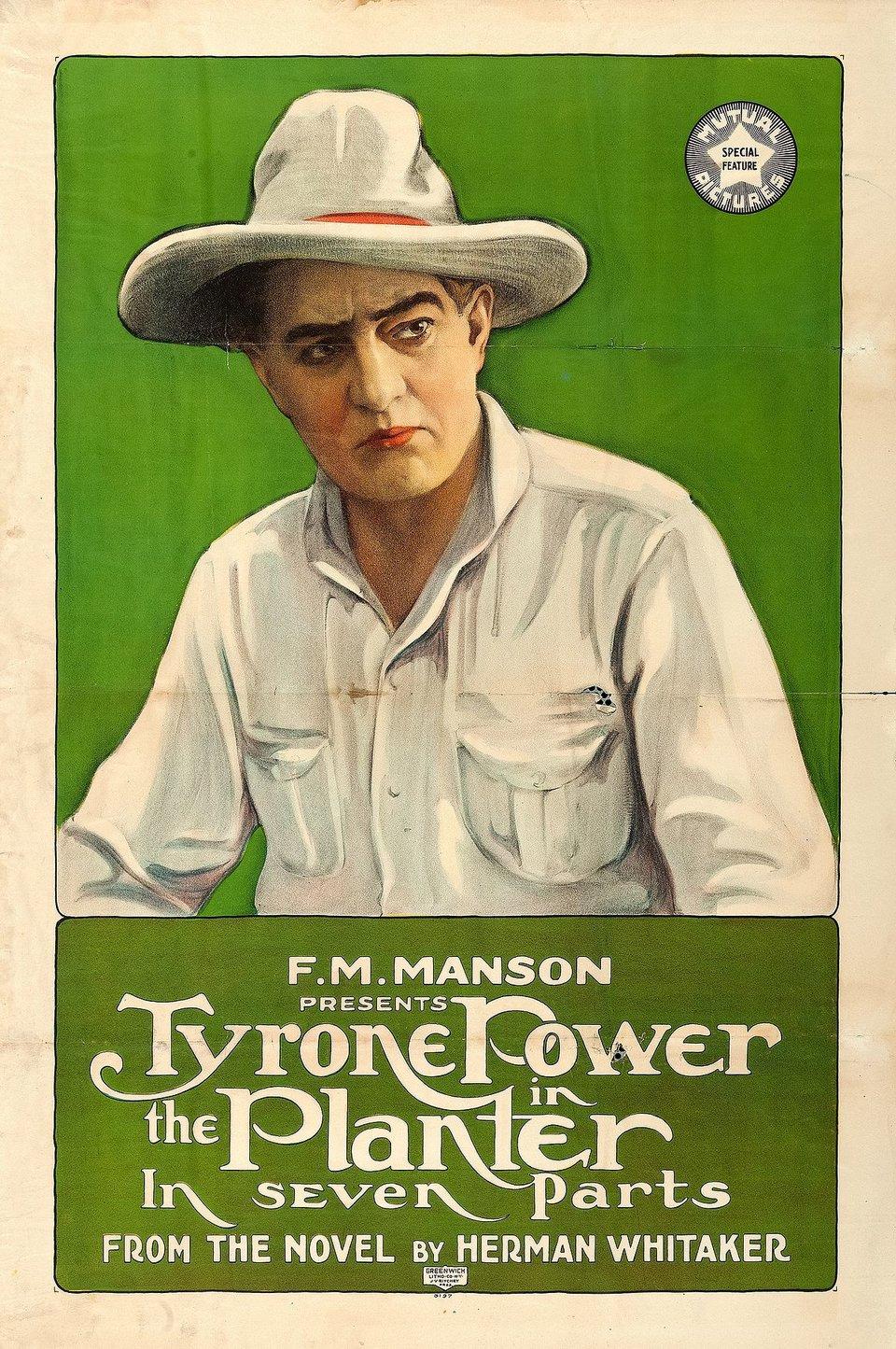 Реклама фильма «Плантатор» (1917)