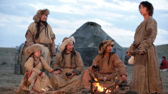 На съемках фильма «Монгол»
