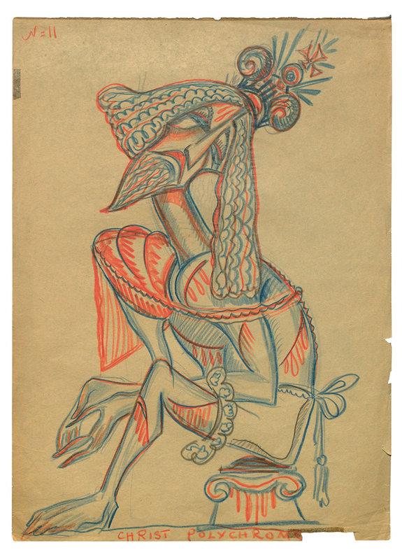 Рисунок Сергея Эйзенштейна Christ polychrome — «Полихромный Христос» (1931) / РГАЛИ